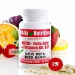 뉴트리 엽산&비타민 B6,B12 90정[2개]