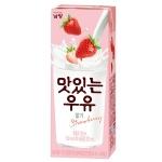 맛있는 우유 GT 멸균 딸기맛 200ml[24팩]