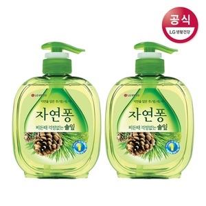 LG생활건강 자연퐁 찌든때 걱정없는 솔잎 490ml(500g)[2개]