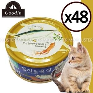 대주산업 캐츠랑 고메디쉬 참치&홍삼 90g[48개]