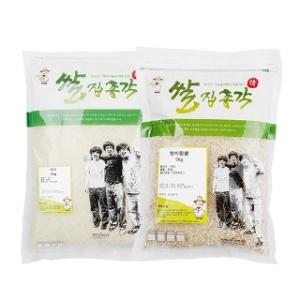쌀집총각 대나무향미 백미 5kg + 현미찹쌀 5kg