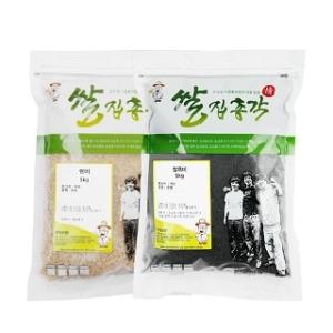 쌀집총각 대나무향미 현미 5kg + 찰흑미 5kg