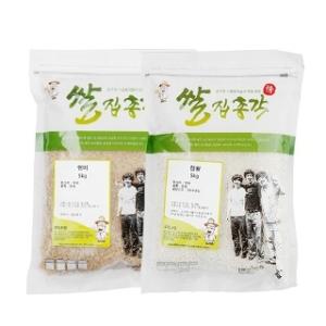 쌀집총각 대나무향미 현미 5kg + 찹쌀 5kg