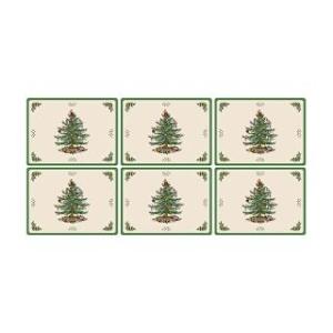 핌퍼넬 크리스마스 트리 플레이스 매트 6P