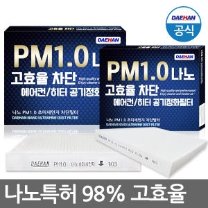 대한청정산업 PM1.0 나노 초미세먼지 차단필터 A098[2개]