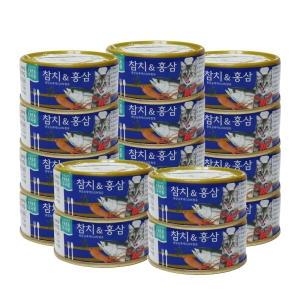 대주산업 캐츠랑 고메디쉬 참치&홍삼 90g[24개]