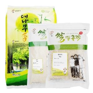 쌀집총각 대나무향미 백미 10kg + 백미 5kg + 찰보리 5kg