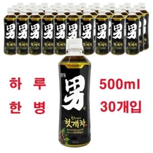 광동제약 힘찬하루 헛개차 男 500ml[30개]