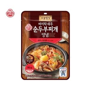 오뚜기 오늘밥상 바지락새우 순두부찌개양념 90g[4개]