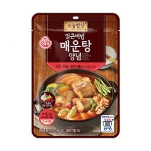 오뚜기 오늘밥상 얼큰비법 매운탕양념 110g[4개]