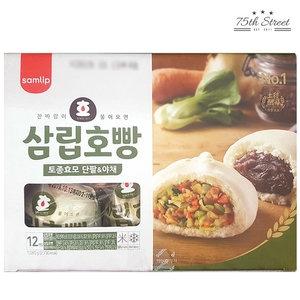 SPC삼립 삼립호빵 토종효모 단팥&야채 1.08kg[1개]