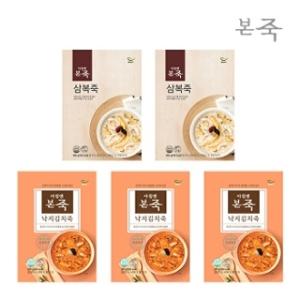 동방푸드마스타 낙지김치죽 3팩+삼복죽 2팩