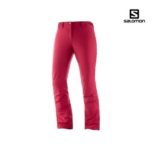 살로몬 아이스매니아 여성 스키팬츠 19/20 (LC1211800)[레드]