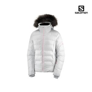 살로몬 스톰코지 여성 스키자켓 19/20 ( LC1213200)[화이트]