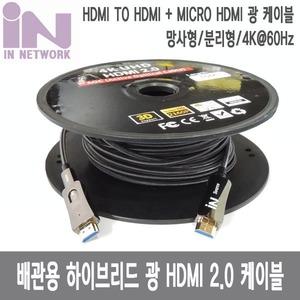 인네트워크 광 HDMI 2.0 AOC 배관용 케이블[50m]