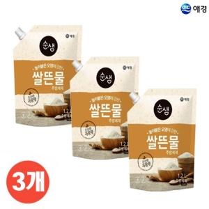 애경 순샘 쌀뜨물 주방세제 리필 1.2L[3개]