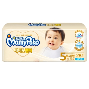 마미포코 에어핏 팬티 5단계 특대형-남[1팩,28매(28매)]