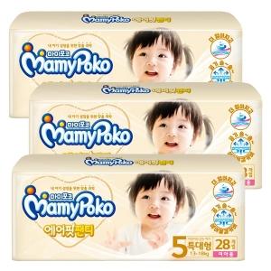 마미포코 에어핏 팬티 5단계 특대형-여[3팩,28매(84매)]