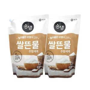 애경 순샘 쌀뜨물 주방세제 리필 1.2L[2개]