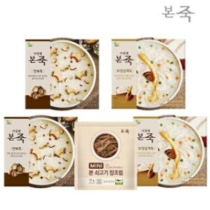 동방푸드마스타 아침엔본죽 전복죽 2팩+보양삼계죽 2팩
