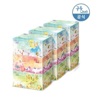 그랜드유니버셜트레이딩코리아 구름나비 천연펄프 각티슈 200매[3팩(9개)]