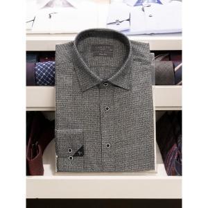 란체티 다크그레이 컬러 슬림라인 긴팔 와이셔츠_LRW1012DG02