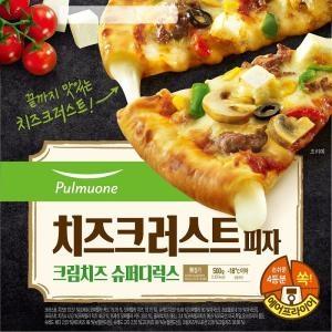 풀무원 치즈 크러스트 피자 크림치즈 슈퍼디럭스 500g[1개]