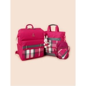 빈폴키즈 20년 신학기 핑크 빈폴 체크 펠리 책가방+신발주머니+크로스백 3종 세트 (PS00115742X)