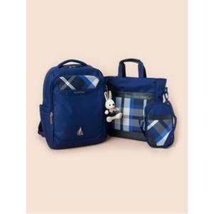 빈폴키즈 20년 신학기 블루 체크 라이트 책가방+신발주머니+크로스백 3종 세트 (PS00115748P)