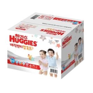 2020 하기스 매직팬티 컴포트 4단계 대형-공용[1팩,76매(76매)]