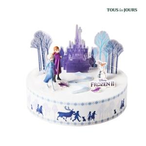 뚜레쥬르 겨울왕국2 블루베리 화이트 케이크