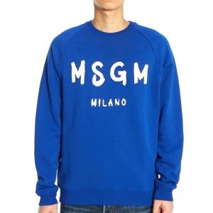 MSGM 남성 로고 기모 맨투맨_2740MM104 195799 85
