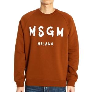 MSGM 남성 로고 기모 맨투맨_2740MM104 195799 30