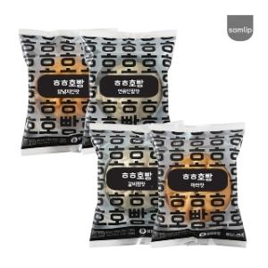 SPC삼립 배민호빵 연유단팥 90g[4개]