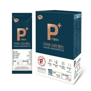 하림 P플러스 다이어트 프로틴 밸런스 25g[10포,2박스]