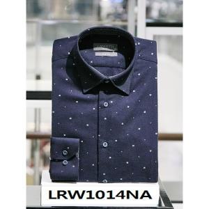 란체티 프린트 기모 슬림핏 긴소매 셔츠_LRW1014NA