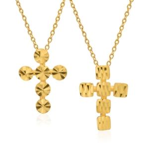 골드모아 순금 목걸이 3.75g 십자가 도트