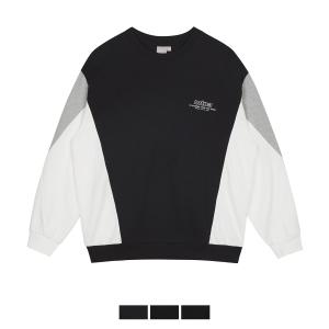 스파오 남녀공용 절개 배색 스웨트 셔츠_SPMWA11C93