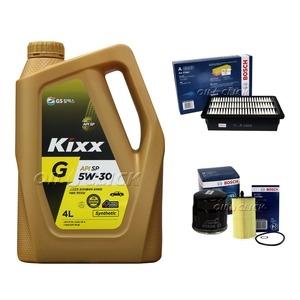 GS칼텍스 KIXX 킥스 G 5W30 + 보쉬필터 뉴SM3 L38 가솔린
