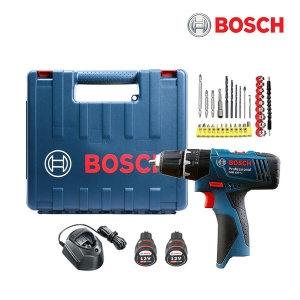 보쉬 GSB 120-LI + 플렉시블 세트[2.0Ah, 배터리 2개]