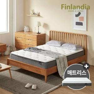 올펀 핀란디아 마틴L 원목 침대 퀸(Q)[드림온M20]