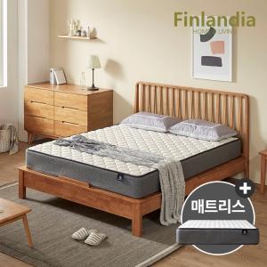 올펀 핀란디아 마틴L 원목 평상형 침대 퀸(Q)[드림온21]