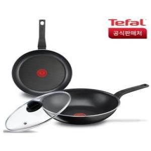 테팔 심플리클린 프라이팬 3종세트(28cm+웍28cm+정품뚜껑)