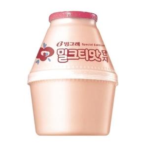 빙그레 밀크티맛 단지 240ml[4개]