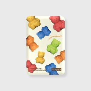 어프어프 Little fire covy pattern-colorful 무선충전 보조배터리