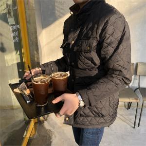 바버 남성 퀄팅 패딩 필드 벨트 자켓