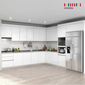한샘 프리체 슬림 키큰장+냉장고장 (ㄱ자)[5.9m ~ 6.3m]