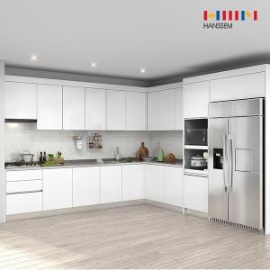 한샘 프리체 슬림 키큰장+냉장고장 (ㄱ자)[5.3m ~ 5.9m]