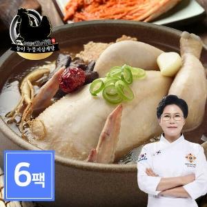 차오름푸드 유귀열 능이누룽지 삼계탕 1kg[6개]