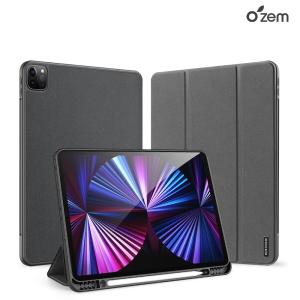 OZEM 아이패드 프로 12.9 5세대 애플펜슬수납 스마트커버 케이스